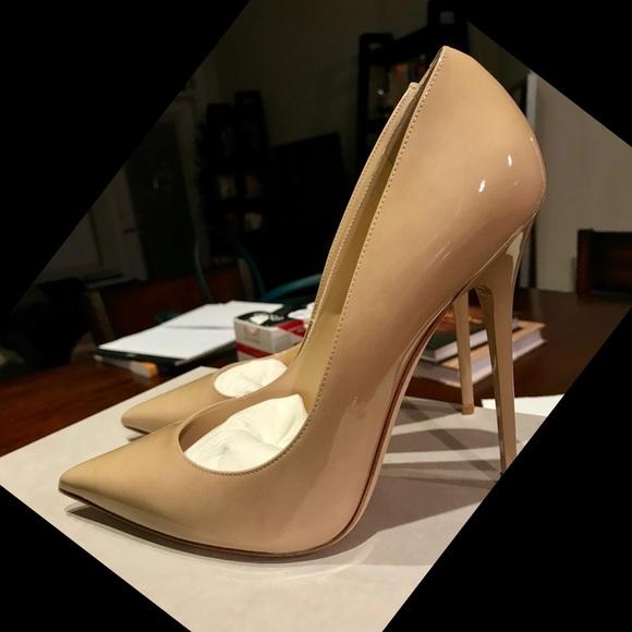 b472d239fff2 Jimmy Choo Shoes - Jimmy Choo Patent Nude ANOUK Pumps